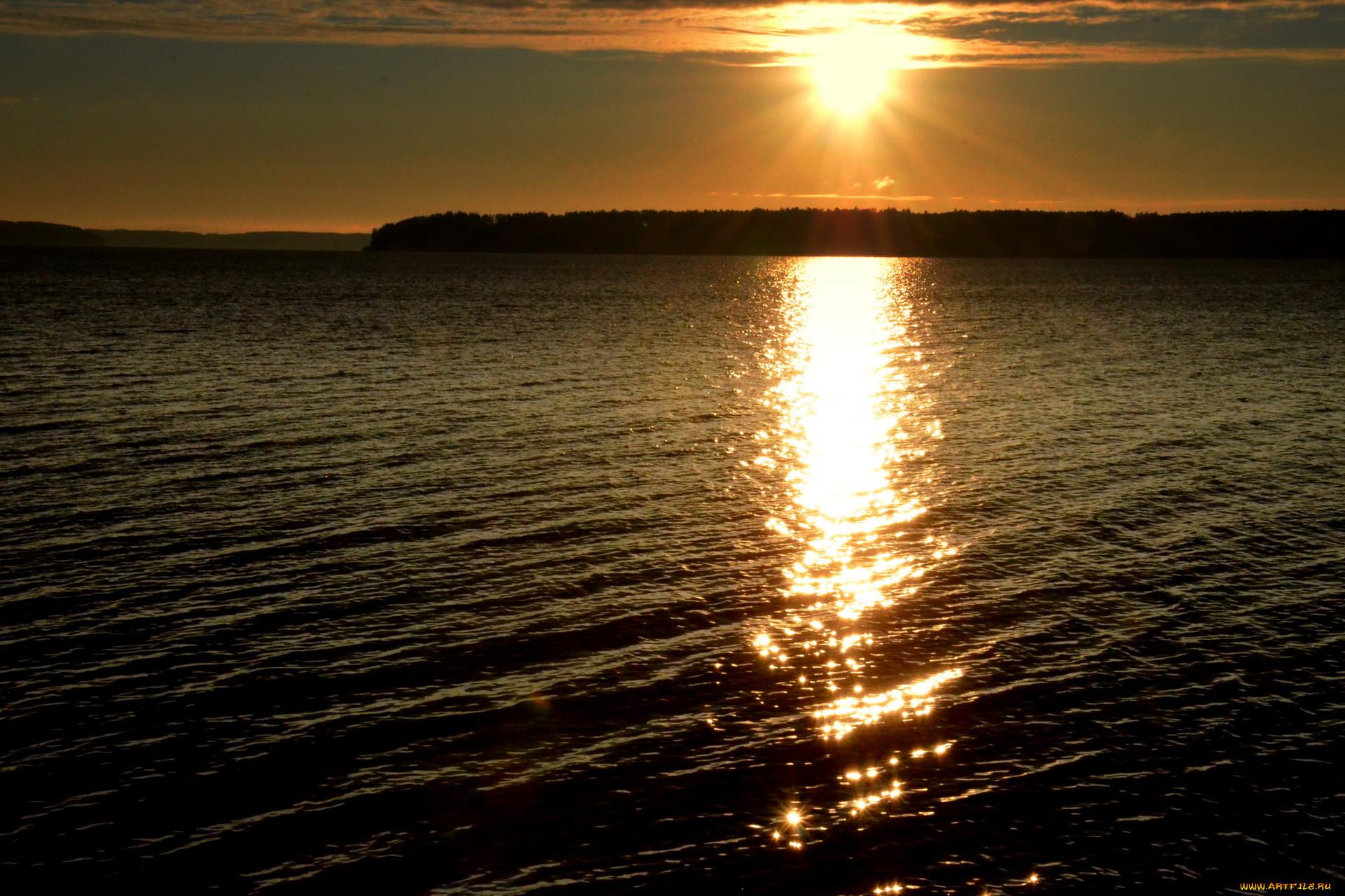 Закат на воде фото 5